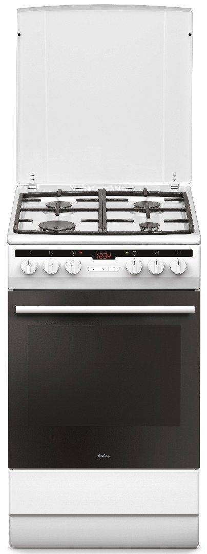 Kuchnia AMICA 57GE3 33HZpTaDpAQ(W), Kuchnie gazowo elektryczne  opinie, cena