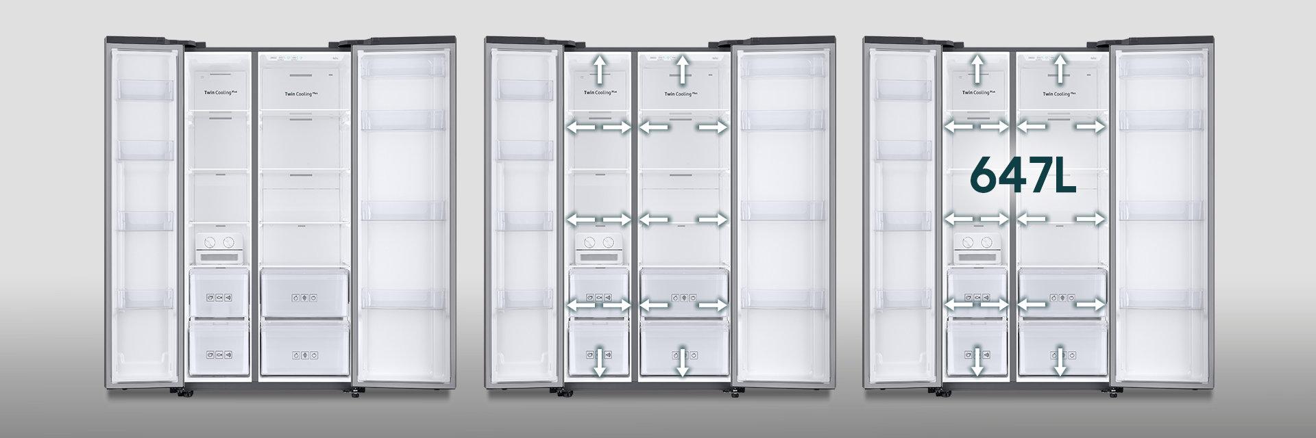 Samsung Chladničky Rs66n8100s9 Spousta míst