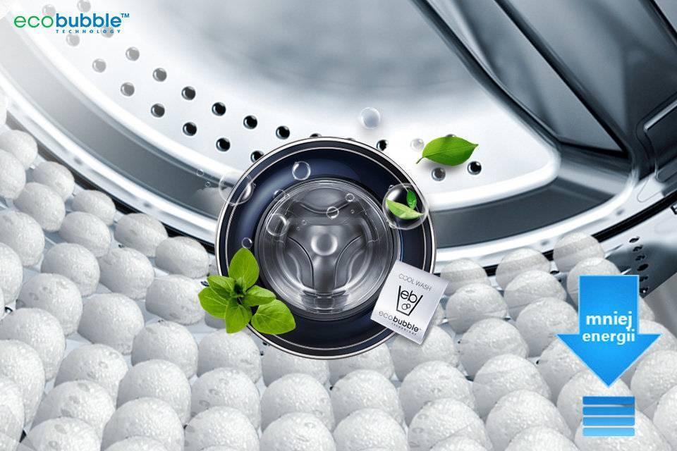 Samsung Eco Bubble™. Chroń tkaniny, oszczędzaj energię