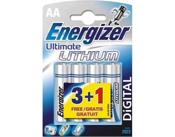 Bateria ENERGIZER Ultimate Lithium L-91 AA 3+1