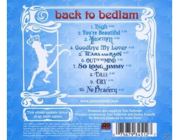 BACK TO BEDLAM (BLUE VRS)