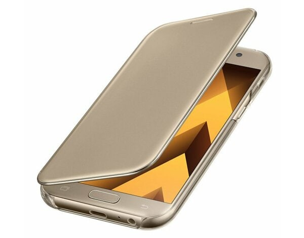 Etui SAMSUNG Clear View Cover do Galaxy A5 (2017) Złoty