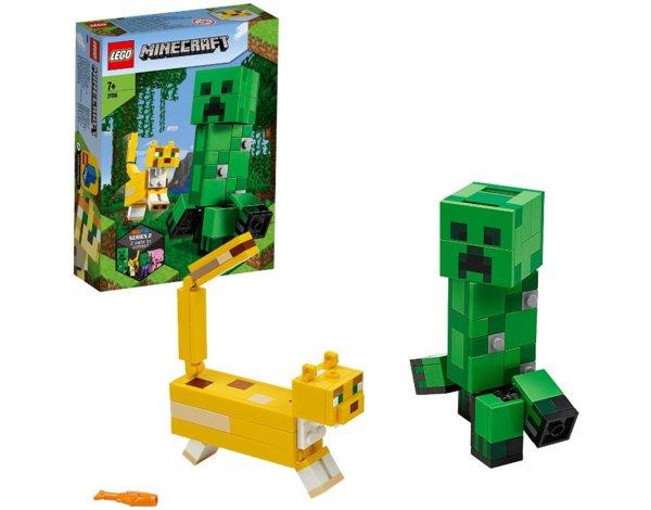 Klocki LEGO Minecraft BigFig Creeper i Ocelot LEGO 21156