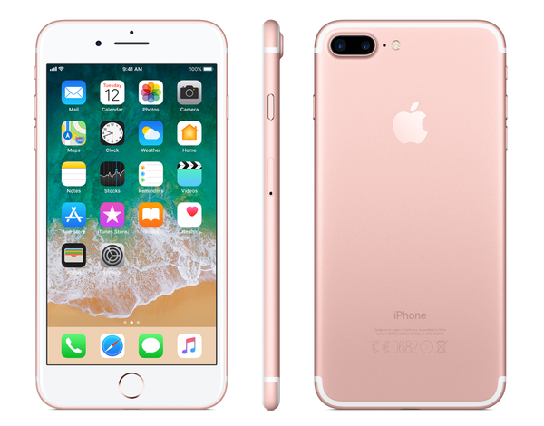Smartfon APPLE iPhone 7 Plus 128GB Różowe złoto