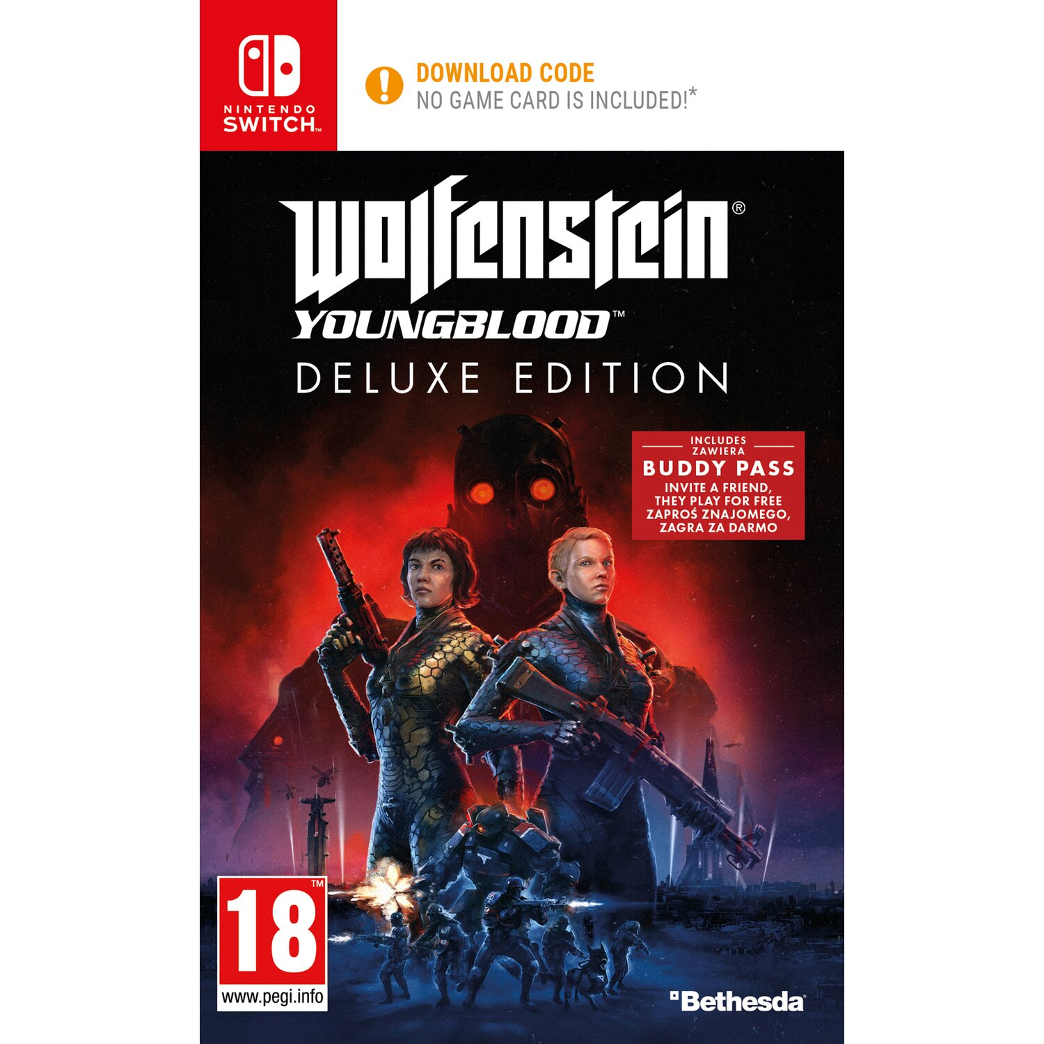 Gra Nintendo Switch Wolfenstein Youngblood Deluxe Edition