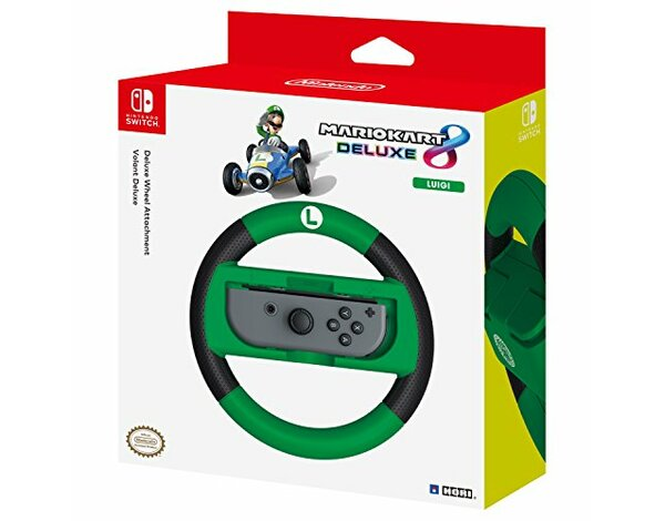 Nakładka na kontroler HORI NSW-055U Joy-Con Wheel Deluxe - Luigi do Nintendo Switch