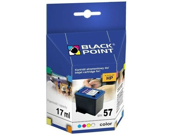 Tusz BLACK POINT BPH57 Zamiennik HP C6657