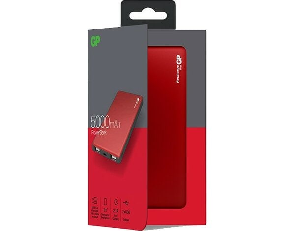 Powerbank GP MP05MAR 5000mAh Czerwony