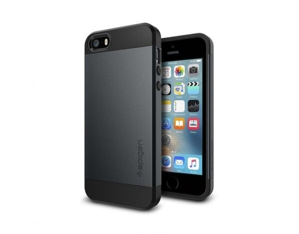 Etui SPIGEN Slim Armor do iPhone 5/5S/SE Grafitowy