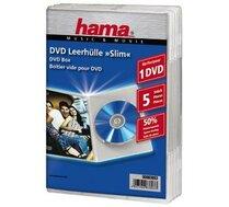 Opakowanie Na Cddvd Hama Pudełka Na Płyty Dvd Slim Box 5szt Przezroczyste